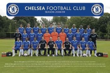 Plakát Chelsea - Team photo 08/09