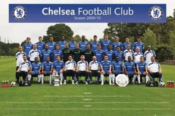 Plakát Chelsea - Team photo 09/10