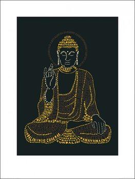 Reprodukcja Citography - Buddha