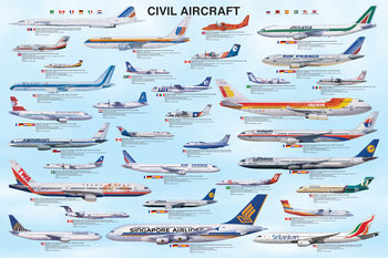 Plakat Civil aircraft