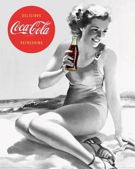 Plakat COCA-COLA - beach