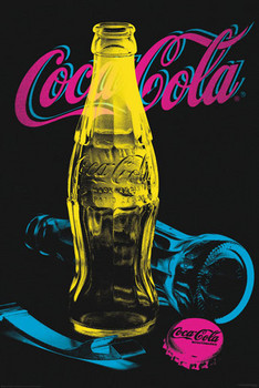 Plakat Coca Cola - Black light