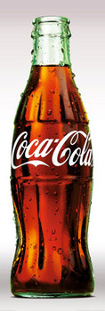Plakat Coca Cola - contour bottle