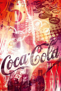 Plakat Coca Cola - graphic