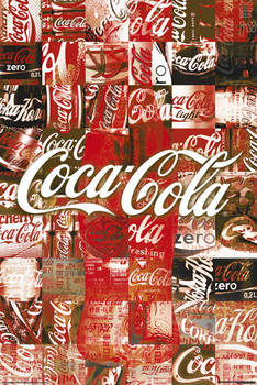 Plakát Coca Cola - patchwork