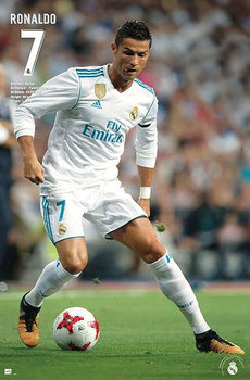 Plakát Cristiano Ronaldo - Nr. 7 Real Madrid Season 2017/18