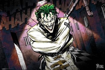 Plakat DC Comics - Joker Asylum