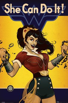 Plakat DC Comics - Wonder Woman - She Can Do It!