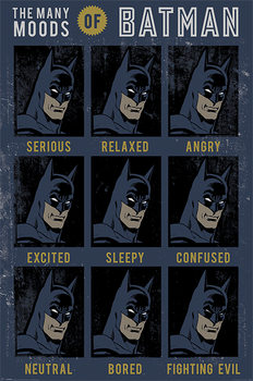 Plakát DC Originals - The Many Moods Of Batman