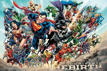 Plakat DC Universe - Rebirth