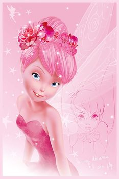 Plakát Disney víly - Tink Pink