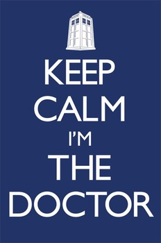 Plakat Doctor Who - Keep calm
