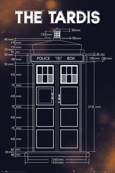 Plakát Doctor Who - Tardis Plans