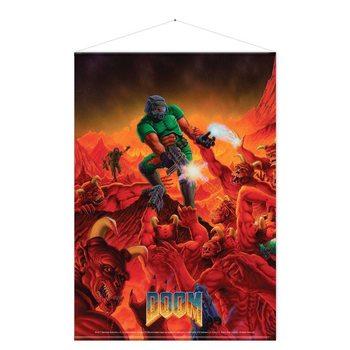 Textilní plakát  Doom - Retro