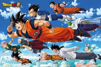 Plakat Dragon Ball - Flying