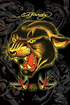 Plakát Ed Hardy - panther 13