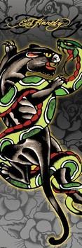 Plakát Ed Hardy - panther & snake