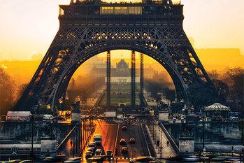 Plakát  Eiffelova věž - Sunrise