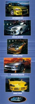 Plakat Fast and Furious - cars
