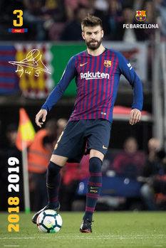 Plakát  FC Barcelona 2018/2019 - Pique