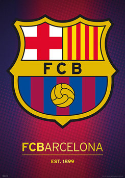 Plakat FC Barcelona - Crest