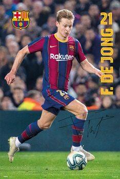 Plakat FC Barcelona - De Jong 2020/2021