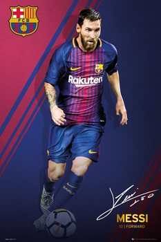 Plakát FC Barcelona - Messi 17-18