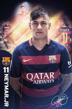 Plakát FC Barcelona - Neymar 15/16