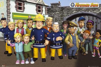 Plakat FIREMAN SAM - cast
