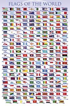 Plakat Flagi świata