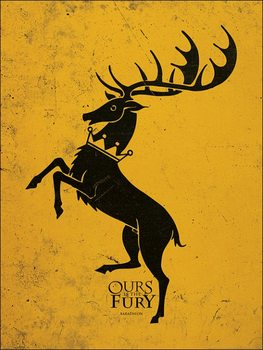Reprodukcja Gra o tron - Game of Thrones - Baratheon