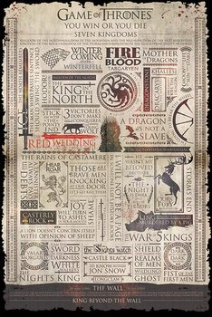 Plakat Gra o tron - Infographic