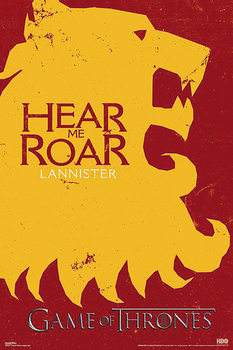 Plakat Gra o tron - Lannister