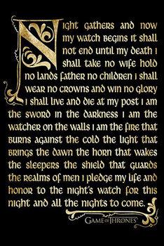 Plakat  Gra o tron - Night's watch