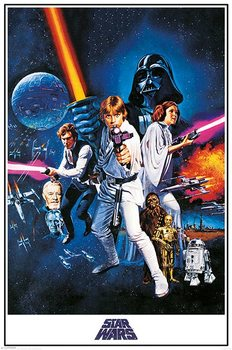 Plakat  Gwiezdne wojny A New Hope - One Sheet