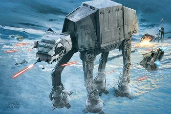 Plakat  Gwiezdne wojny - AT-AT Attack