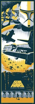 Plakat Gwiezdne Wojny Czesc II - Atak klonow