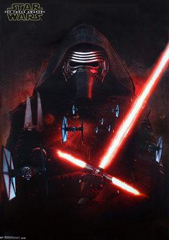 Plakat Gwiezdne wojny, część VII : Przebudzenie Mocy - Kylo Ren and T-Fighter
