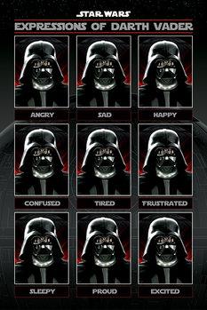 Plakat Gwiezdne wojny - Expressions of Darth Vader