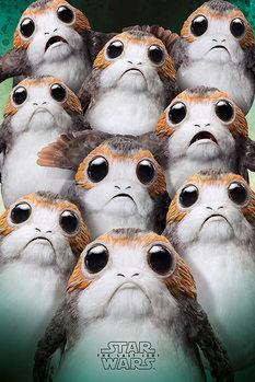 Plakat Gwiezdne wojny: Ostatni Jedi- Many Porgs