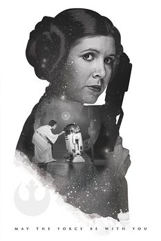 Plakat Gwiezdne wojny - Princess Leia May The Force Be With You