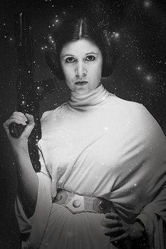 Plakat Gwiezdne wojny - Princess Leia Stars