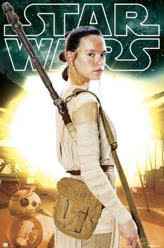 Plakat Gwiezdne wojny VII - Rey