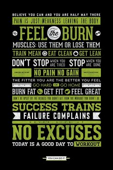 Plakat  Gym - Motivational