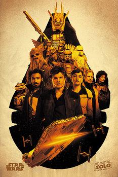 Plakat Han Solo: Gwiezdne wojny historie -Millennium Falcon Montage