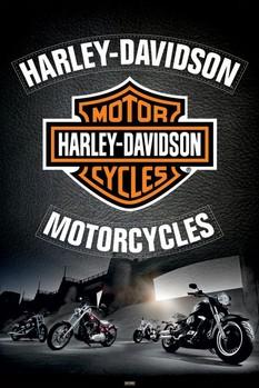 Plakát Harley Davidson - leather