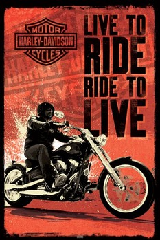 Plakát Harley Davidson - live to ride