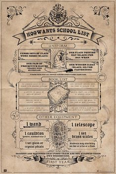 Plakát Harry Potter - Hogwarts School List