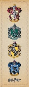Plakát Harry Potter - House Crests