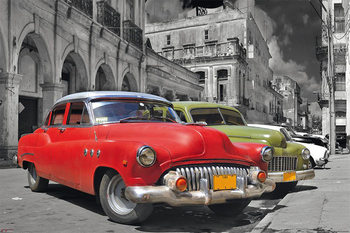 Plakát Havanna Cuba - classic cars